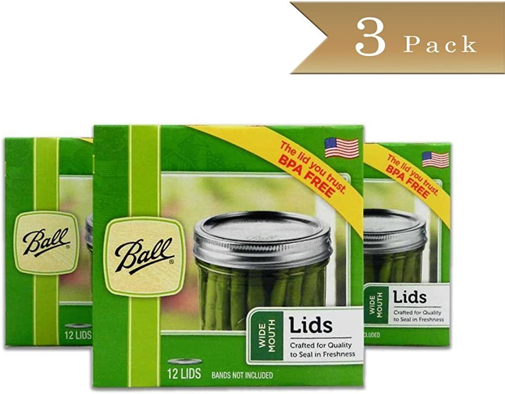 Ball Wide Mouth Lids 3 Dozen Or A Total Of 36 Canning Preserving Wide Lids Lids Only No Bands Or Rings With This Offer