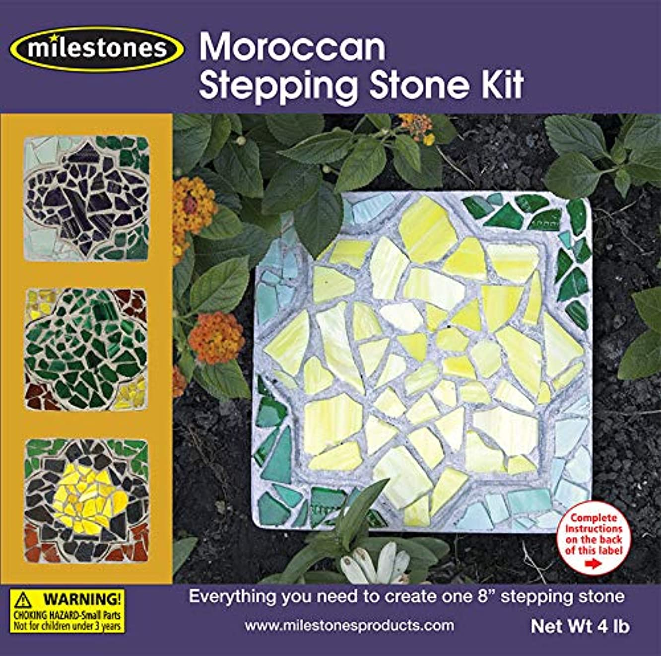 Midwest Products 90115214 Mosaic Stepping Stone Kit-Moroccan,