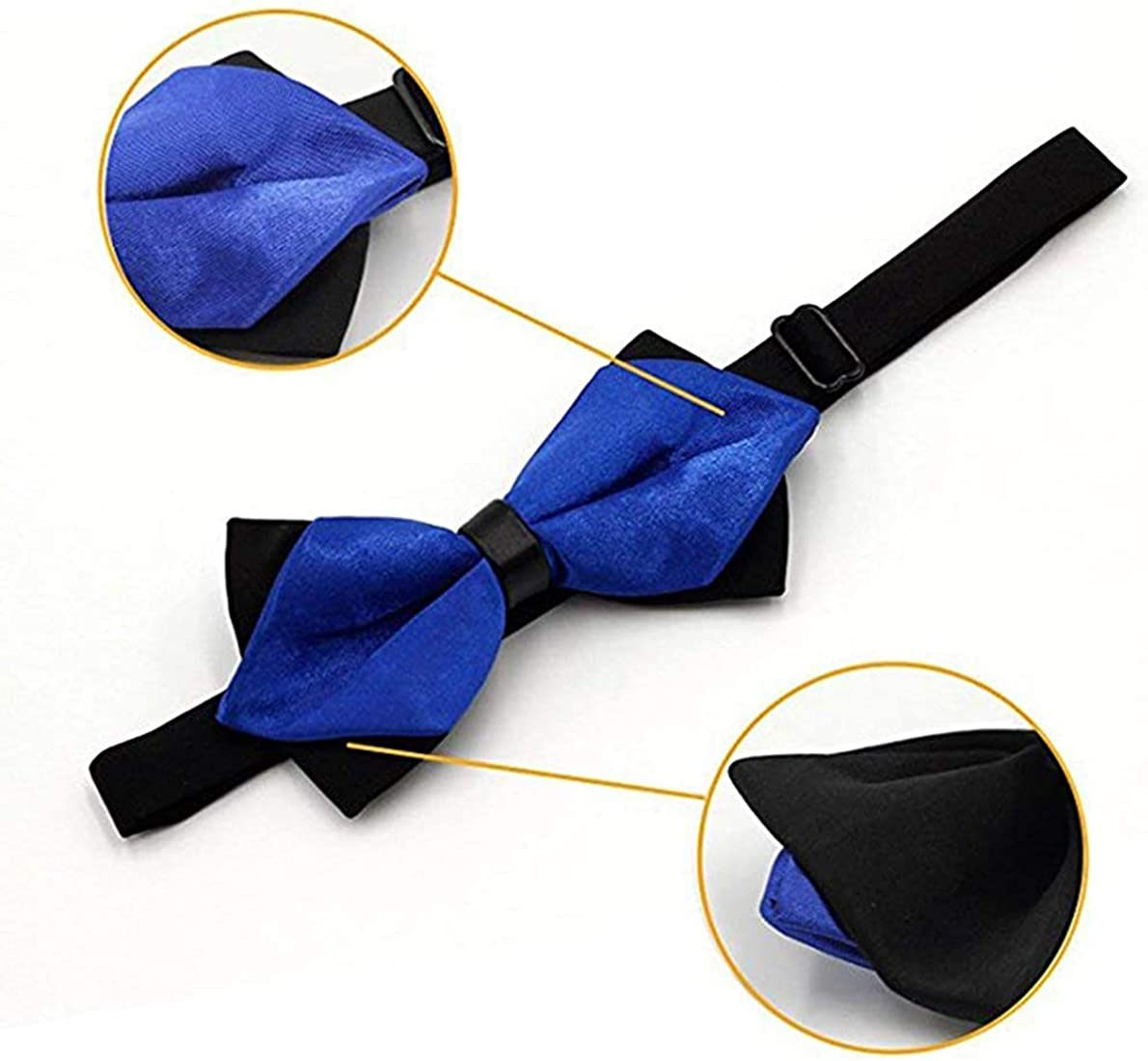 Men's Satin Classic Pre-Tied Bow Tie Formal Tuxedo Party Bowties for Boys