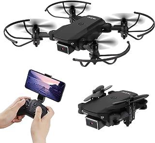 Mini Drone plegable con Doble Cámara 4K WIFI FPV Quadcopter de 2.4 GHz con cámara HD1080P para principiantes adultos de niños (Control de voz, Control de altitud, Balanceo de 360 ??°, Modo sin cabeza)