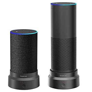 [Updated] Smatree Portable Battery Base Compatible for Echo (2nd Generation) / Echo Plus(1st Generation), Echo/Echo Plus(1st Generation) Sold Separately,Won't Turn Off Automatically When Standby