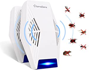 Ultrasonic Pest Repeller 2 Pack, 2021 Electronic Enhanced Pest Repellent Ultrasonic Plug in Indoor for Humans & Pets Safe, Pest Control for Mosquitoes, Roaches, Flea, Mice,Spiders, Ants(White)