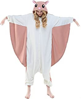 NEWCOSPLAY Unisex Adult Flying Squirrel Pajamas- Plush One Piece Costume 9c3f31885