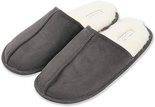 79c21d732f1f KushyShoo Men s Slip-On Indoor Outdoor Scuff Fluff Slippers