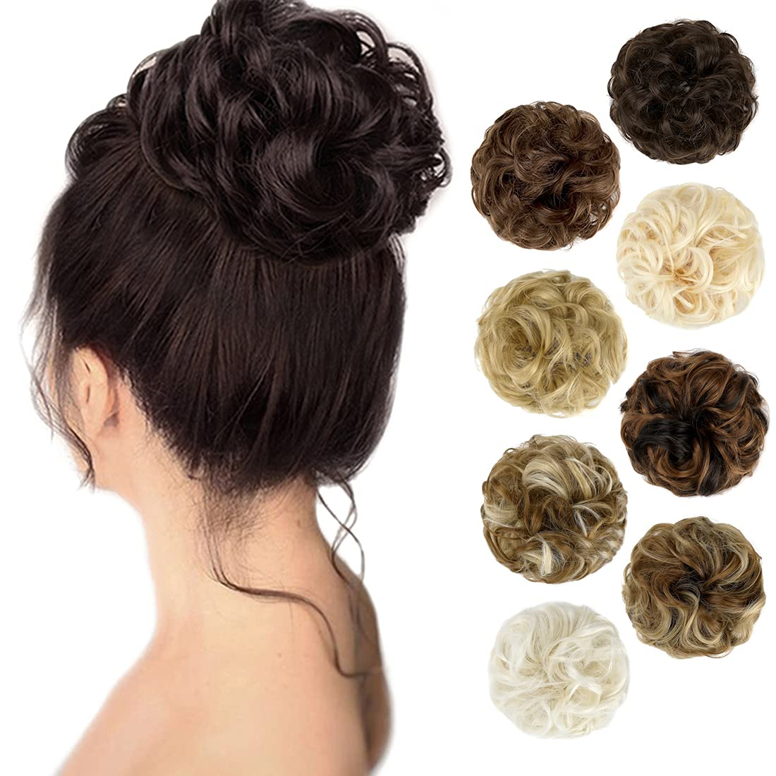 Messy Bun Product Hair Piece Complete Free Shipping Scrunchie Thick Wavy U Donut Curly Chignons