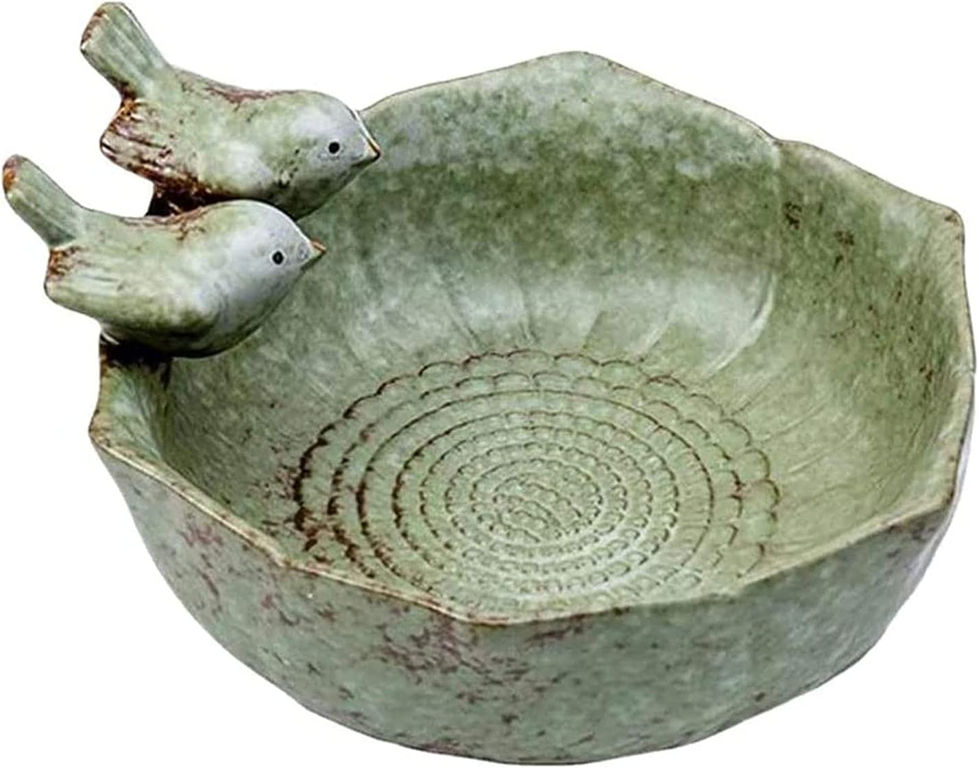 HEY NEW before Max 69% OFF selling Bird Feeder Ceramic Bowl Fruit Container Birds 2 Art Food