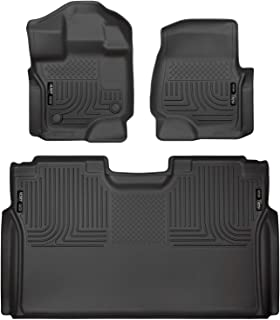 Husky Liners Fits 2015-19 Ford F-150 SuperCrew Weatherbeater Front & 2nd Seat Floor Mats