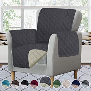 Chair Cover for Dogs,Chair Protector Double Diamond Quilted Machine Washable Chair Cover RHF 100/% Waterproof Chair Covers Chair Slipcover,Chair Covers for Living Room Chair:Dark Grey