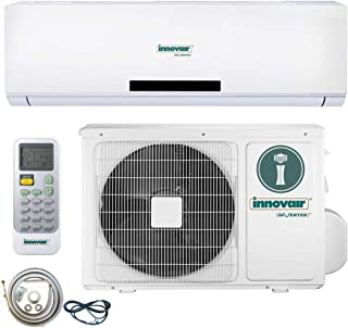 Innovair Air Conditioner Inverter Ductless Wall Mount Mini Split System Heat Pump Full Set 17~19 SEER (36000 BTU 208~230V Heat Pump)