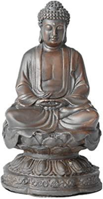 ToperkinSmall Buddha Statues Buda Bronze Sculptures Home Decor