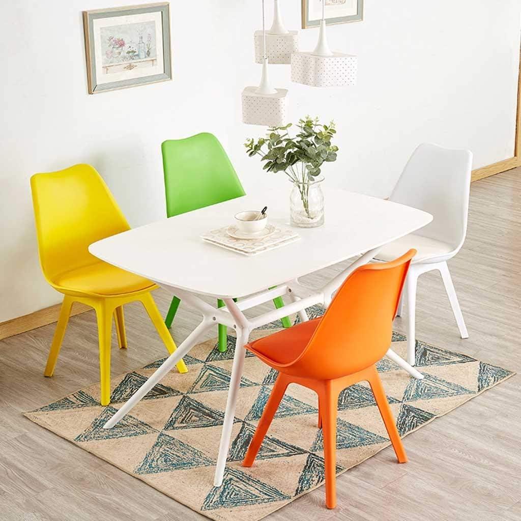 Chaise Maison, Chaise de Salle à Manger Creative Moderne Minimaliste en Plastique Tabouret de Bureau Chaise Fauteuil Adulte Restaurant Nordic (Color : Black) Yellow