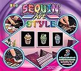 MAMMUT 8081204 - Sequin Art Style 3 Paillettenbilder Cupcakes, Bastelset mit 3 Styropor-Rahmen, 3...