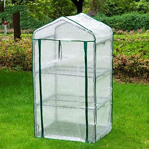 LIZIZYB Mini Invernadero 3 Capas 69x49x128cm Consta de una Estructura Robusta de Acero y Doble Cremallera Transparente Tela de...