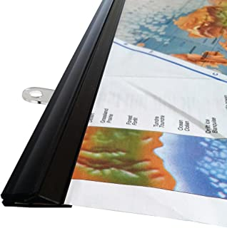 myColdCup goKelvin 24 Inch Hanging Rails for Posters, Signs, and Maps (Black)