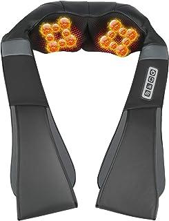 ESSEASON Masajeador de Espalda Shiatsu - 16 Nodos Masajeador Cervical con 3D Amasamiento Profundo Rotación y Función de Ca...