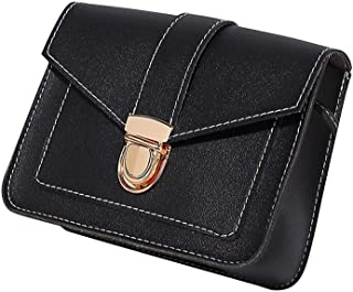 Wultia - Vintage Leather Hotsale Women Wedding Clutches Ladies Party Purse Famous Designer Crossbody Shoulder Messenger Bags #T09 Black