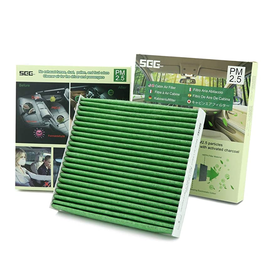 SEG Direct Cabin Air Filter For Toyota/Lexus/Scion/Subaru, Filters 98% Fatal PM2.5, For Cleaner Air