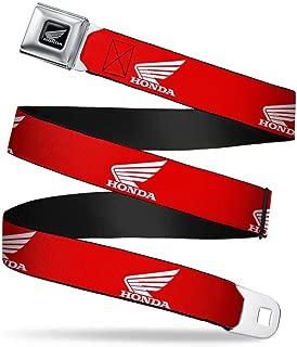 Buckle-Down Seatbelt Belt - HONDA Motorcycle Logo Red/White - 1.0