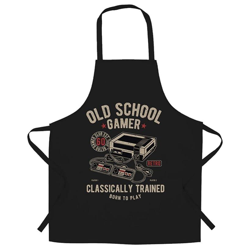 Ashasds Custom Chef Apron Gaming Chefs Apron Old School Gamer Retro Videogame Arcade for Women Men Barber Kitchen