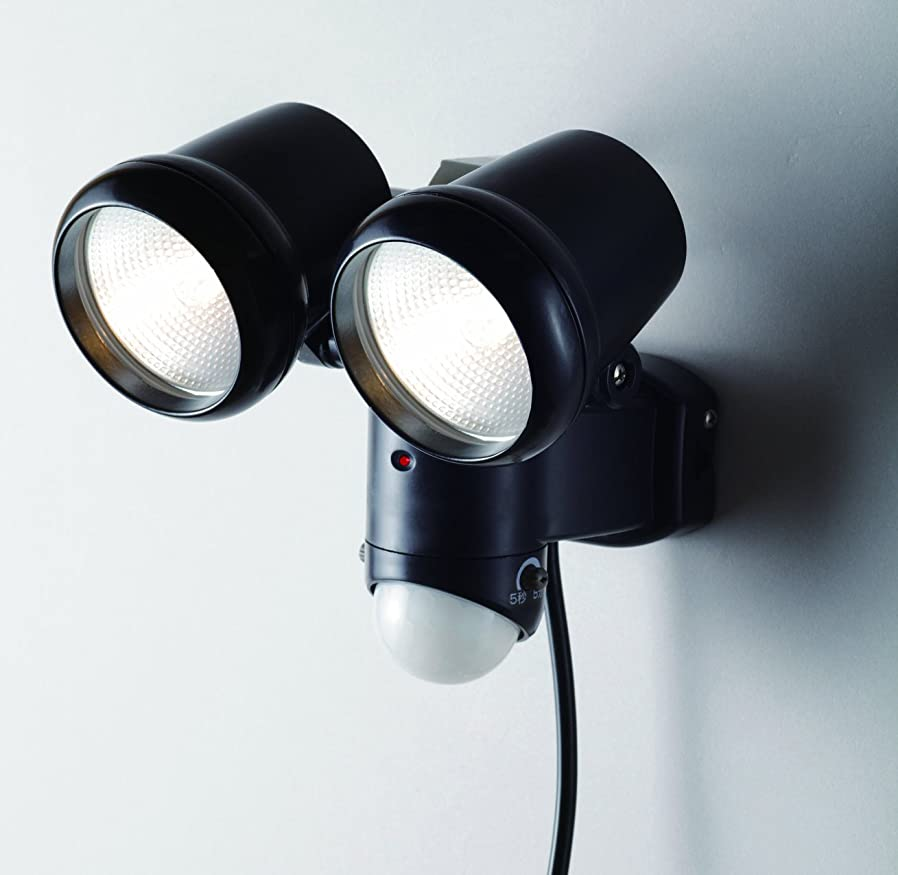 資金シロクマ懺悔ハロゲンセンサーライト 2灯式 DLA-2T100