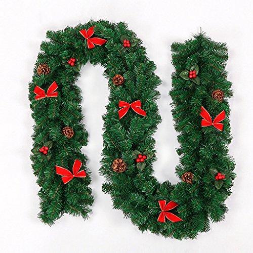 Jia He Decorazione Vite di Natale - Albero di Natale Decorazione con Fiocco in Rattan Decorazione di Natale Decorazione con Negozio di Famiglia (270x25 cm) ##