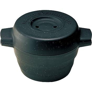 メトレフランセ Maitre Francais 電子レンジ 調理器 一台三役 炊く 蒸す 煮る 簡易レシピ付き ブラック デリキャセ 857-BK