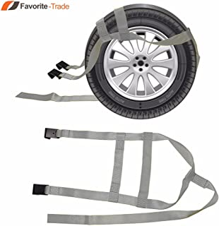 2x DEMCO Car Basket Straps Adjustable Tow Dolly Wheel Net Tire Flat Hook G