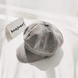 SHENTIANWEI Port Wind Cotton Cap Child Spring and Autumn Literary Retro Casual Beret Newsboy Cap Octagonal Breathable Tide Men (Color : Grey, Size : One Size)