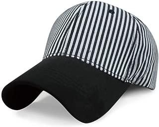 Moda al Aire Libre Simple Visera Gorra Rayas Blancas y Negras ...