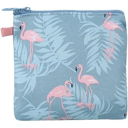 Fablcrew, organizer portatile con fenicottero, borsa impermeabile per fazzoletti, prodotti da bagno, colore blu