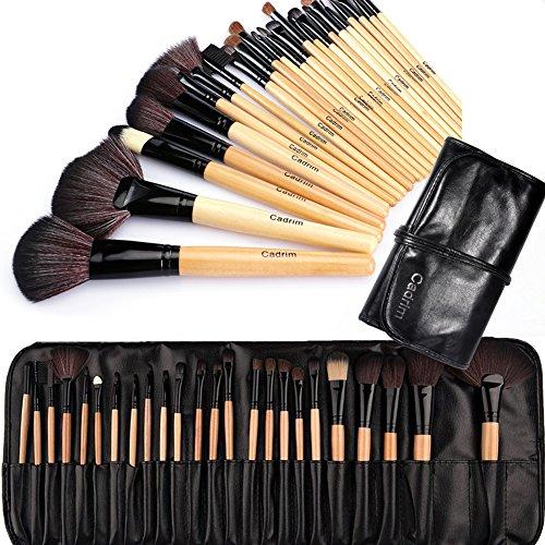 Pennelli Make Up,Cadrim 24 pezzi Set di pennelli professionali per trucco trucchi,pennelli trucco con borsa