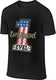 Evel Knievel American Iconic Daredevil Motorcycle Humor Sports Black T Shirt