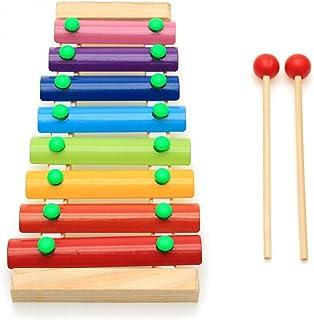 BESTOYARD Glockenspiel Xylophone Baby Musical Instrument Wooden Percussion Toy