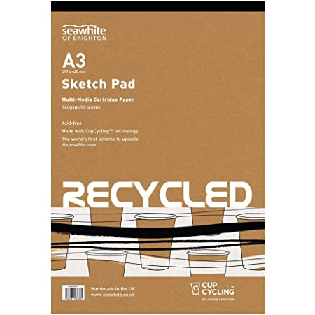 Seawhite Von Brighton Eco Recycelt Cupcycling Zeichenpapier Sketch Pad A4