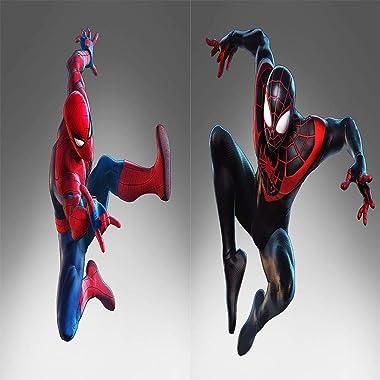 ARYAGO Rideau occultant à isolation thermique pour chambre de garçon Motif Spiderman 140 x 160 cm