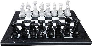 RADICALn Black and White Marble Chess Game Handmade Marble Chess Set With Storage Box