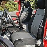 Rugged Ridge 13295.09 Black/Gray Seat Cover Kit, 2007-2010 Jeep Wrangler Unlimited JKU, 4 Door, 2 Pack