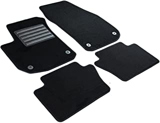 Negro AD Tuning GmbH hg11475/V Terciopelo Ajuste felpudos Set
