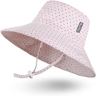 Ami & Li tots flickor solhatt hink justerbar för baby flickor pojkar spädbarn barn småbarn hatt solskydd UPF 50 unisex