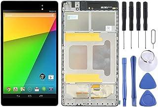 交換するのが面倒 フレームとのみAsusのGoogleのネクサス7 2 2013 ME571KL完全なアセンブリのためのLCD画面とデジタイザ(WIFI版)(ブラック) (Color : Black)