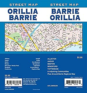 Barrie / Orillia, Ontario Street Map
