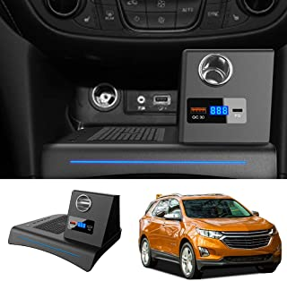 Bwen Car Wireless Charger Mount fit for Chevrolet Equinox 2018-2020,Fast Charging Compatible Enabled Wireless Phone Charging Devices Accessory