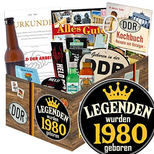Legenden 1980   Präsentkorb Geburtstag   Mann Geschenk DDR Geburtstag