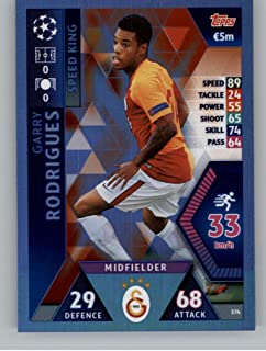 2018-19 Topps UEFA Champions League Match Attax #374 Garry Rodrigues Galatasaray S.K. Soccer Trading Card