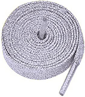 Coloured Metallic Sparkly Glitter Flat Shoelaces 12 mm wide & 120cm Long For Kids & Ladies Trainers