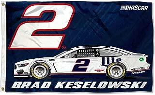 R and R Imports, Inc Brad Keselowski #2 3' x 5' Number Flag