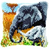 Vervaco PN-0147955 VER Knüpfkissen Elefant mit Baby