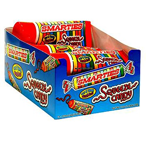 Smarties Squeeze Candy, 12 Count (SUGAR CANDY - REGULAR SIZE)