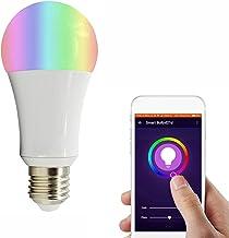 Slimme wifi-lampen dimbaar, 18W LED RGBCW-kleurveranderende lampen, werkt met Alexa, Google Home, 2,4 GHz alleen wifi, gee...