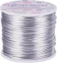 BENECREAT 12 17 18 Gauge Aluminum Wire (18 Gauge,492 FT) Anodized Jewelry Craft Making Beading Floral Colored Aluminum Craft Wire - Silver